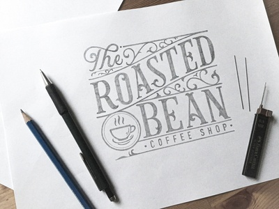 The Roasted Bean - Coffee Shop Logo