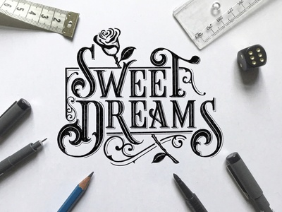 Sweet Dreams Sketch for T-Shirt Design