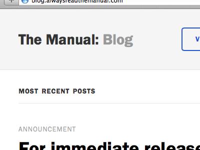The Manual: Blog blog web