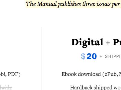 Digital + Print web subscriptions