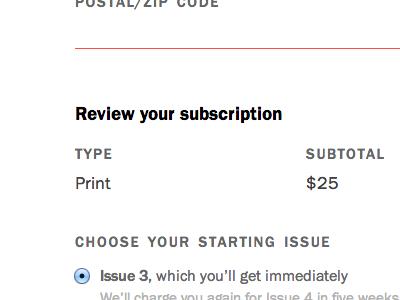Subscriptions web subscriptions
