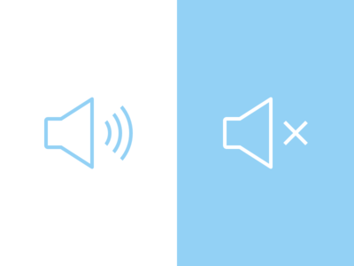 Sound / Mute sound mute speaker icons