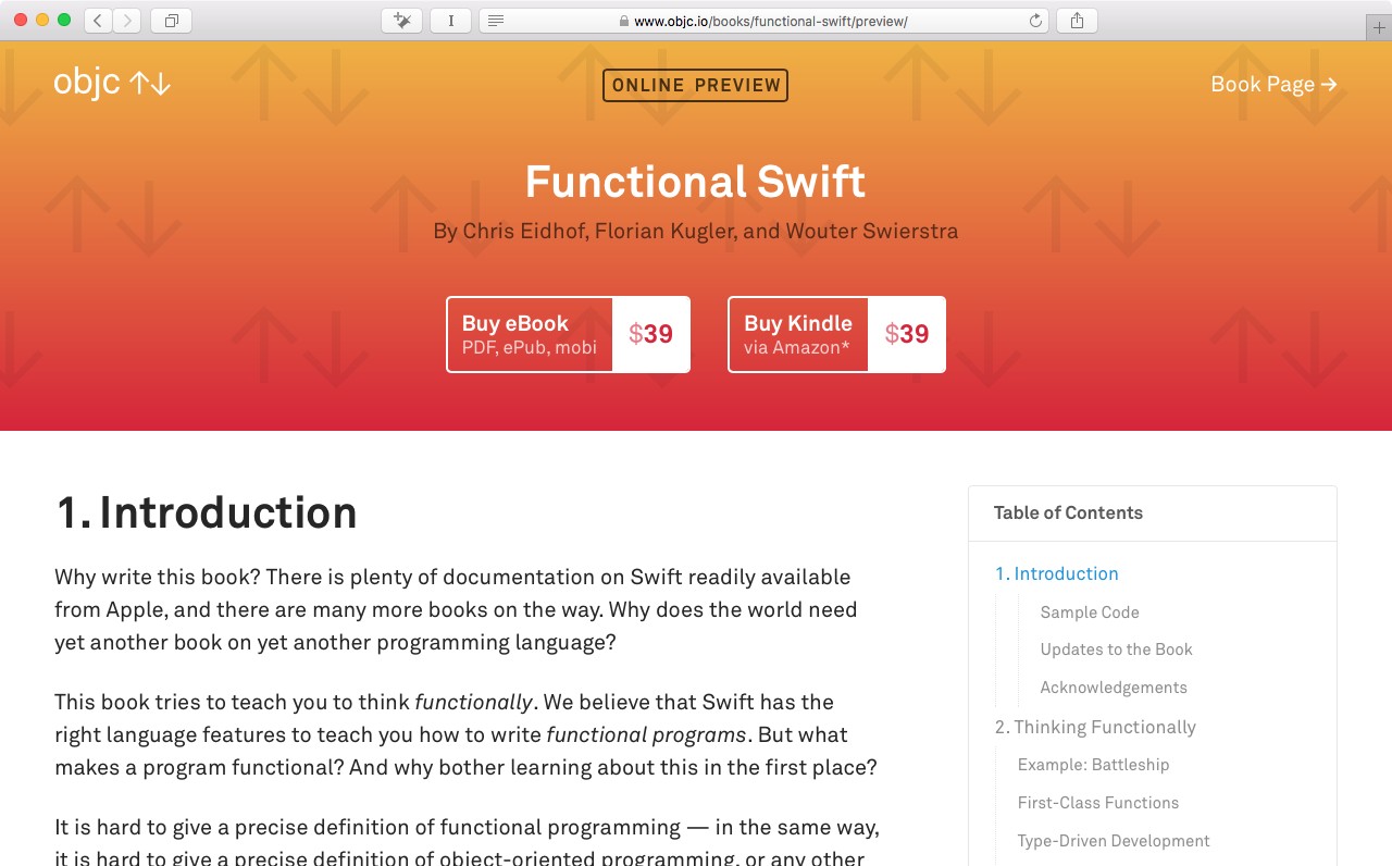 Functional swift online preview