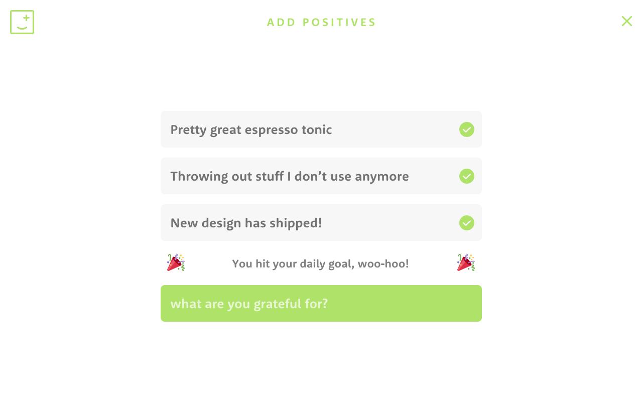 Add positives