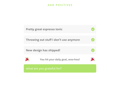 Positivity Space
