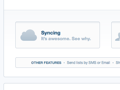 Syncing. It's awesome.