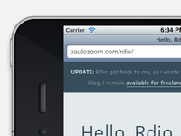 An Update From Rdio