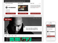Trey Songz Responsive Homepage Expanded