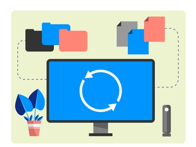 zbackup illustration vector editorial design illustration
