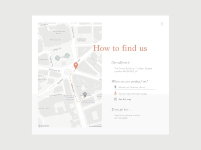 020 • Location Tracker popup map contact location location tracker ui dailyui dailychallenge