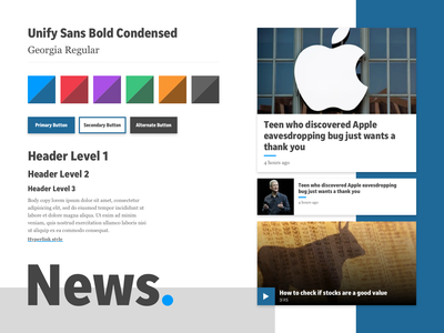 USA Today – Style Tile ux sketch moodboard style tile ui