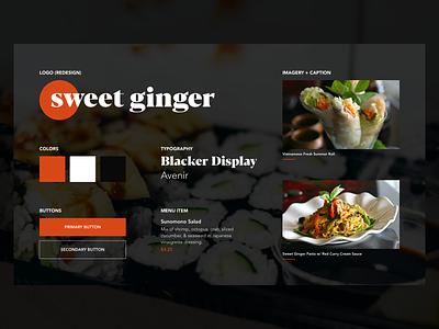 Sweet Ginger – Style Tile asian food idendity sushi interface design branding ux ui