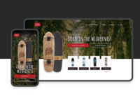 Skateboard Company – Web Design interface design design skateboarding landyachtz landing page marketing ui responsive longboard skateboard
