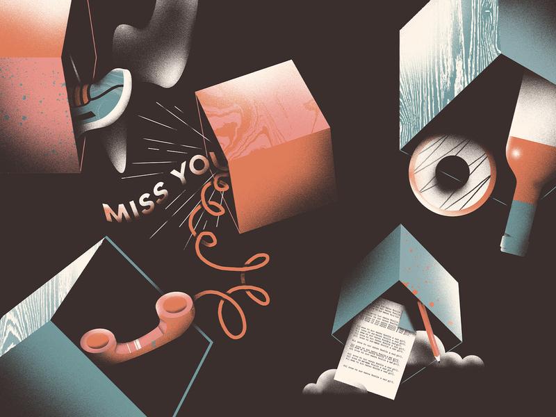 Anti-Seasonal Depression 🌥️ self care phone wine donut boxes winter seasonal depression surreal design illustration