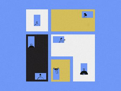 Social Distancing 📱 home community people social distancing stayhome covid19 coronavirus design illustration