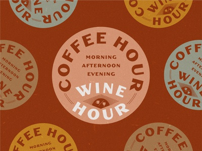 What Hour? drink social distancing happyhour covid19 retro lockup badge typography design illustration