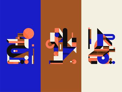 Building Blocks texture illustration abstract block color composition geometric