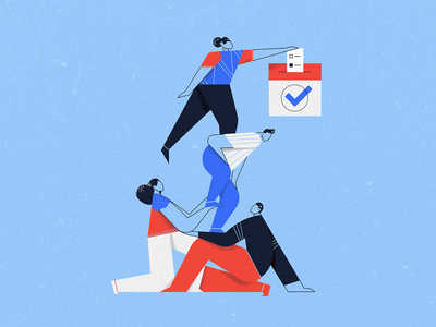 Lift Your Neighbor Up & VOTE texture 2020 election ballot community neighbor vote people election2020 illustration