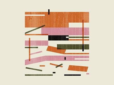 Falling texture kinetic mid century retro abstract illustrator illustration geometric
