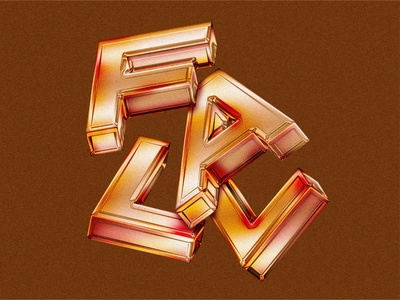 Unofficially Officially Fall isometric seasons texture chrome retro orange autumn fall design 3d typography