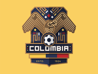 World Cup Badge Design 2018 / Colombia