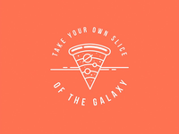 Take your own slice of the galaxy! - Logo Inspiration