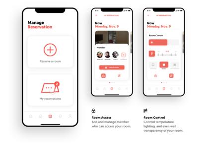 Cabby App - Room Managing Interface design branding app ui ux