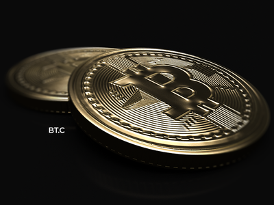 BitCoin // Cinema4D coins goldmaterial physicalrender c4d renderia cgi bitcoin cinema4d
