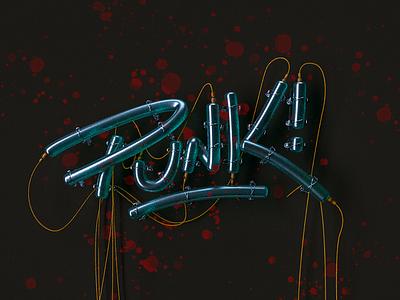 Punk // Cinema4D cgi physicalrender c4d cinema4d blood rainblood punkrock punkcgi