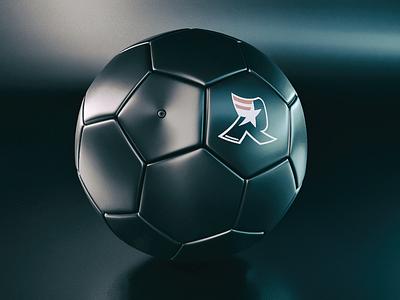 BlackBall Soccer of Death // Cinema4D + Corona bola de futebol coronarender c4d renderia futebol soccer blackball cinema4d