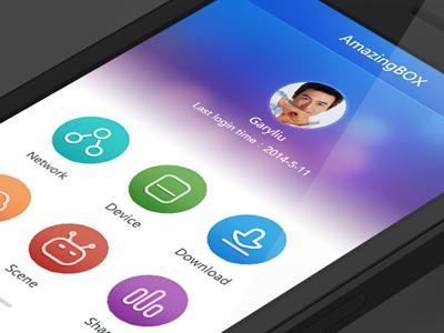 AmazingBOX APP app wifi lan wan menu