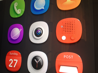 Preview icon phone message mail video camera calendar