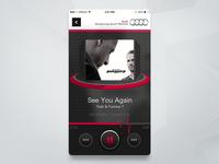 Music audi player batch music widget web design ui