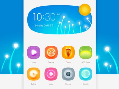 Blue blue app mobile ui icon