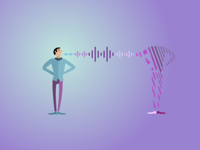 Voice interface waveform identity ai audio sound wavelength design vui apparel shopping suite outfit