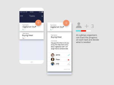 Campers7 29 mockup expand card interface presentation interaction progress manage task ui add app