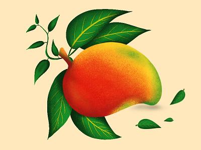King of fruits 🥭 illustrator brushes typography procreate vector design artlover illustration
