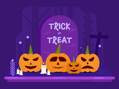 Halloween Illustration Vector vibrant color typography brushes art branding illustrator vector procreate design illustration