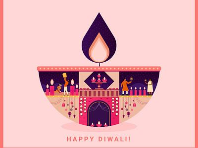 Diwali Card (Pinterest) artlover illustrator vector design illustration