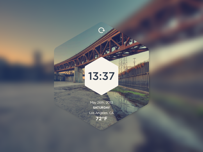 Hexa Time Widget ui clock widget hexagon user interface