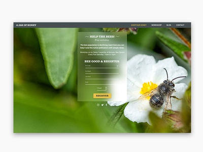 Daily UI #001 - Sign Up page - Bee cool :)