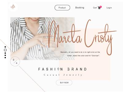 Web UI Fashion Brand - Handle Signature Font