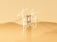 Trusty Love - Handle Signature Free Font