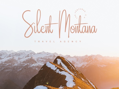 Silent Montana - Free Signature Fonts free fonts free font signatures script font script logo font signature font travel signature minimalism branding agency lettering art font typography typeface fonts