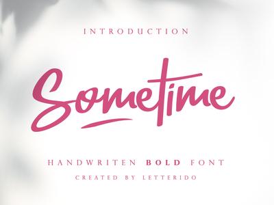 Sometime - Free Font
