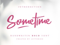 Sometime - Free Font