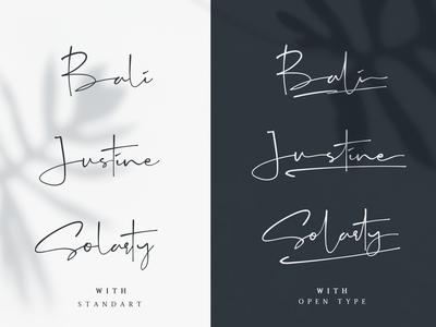 Galinta Opentype Signature