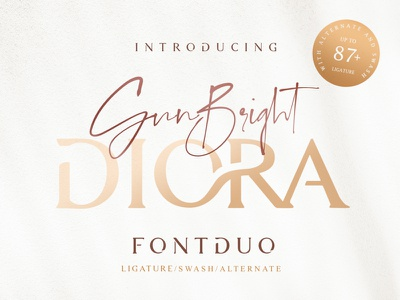 Diora Sunbright Font Duo typohraphy identity design fashion branding logo typeface design font duo free font adobe illustrator branding agency font typography typeface fonts