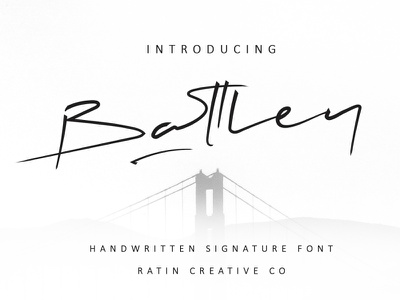 Battley Handwritten Introducing fashion lettering art minimalism branding agency font typography typeface fonts