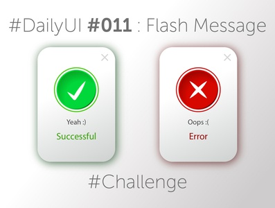 #DailyUI #011 : Flash Message website dailyuichallenge vector 011 design ux сhallenge dailyui illustration web ui